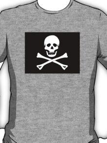 Skull And Crossbones Black Pirate Flag T-Shirt