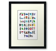 Alphabet Cute  Framed Print