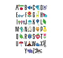 Alphabet Cute  Photographic Print
