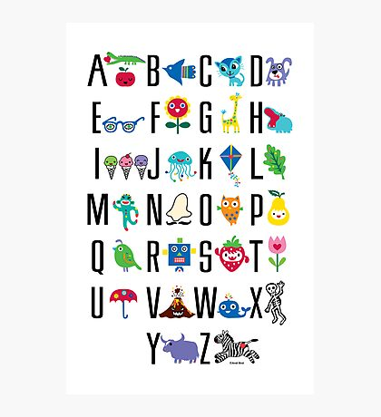 Alphabet Cute  Photographic Print