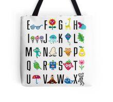 Alphabet Cute  Tote Bag