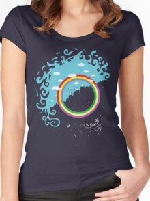Somewhere under then rainbow Women's Fitted Scoop T-Shirt