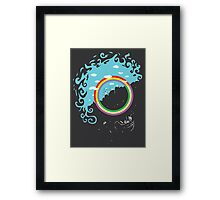 Somewhere under then rainbow Framed Print