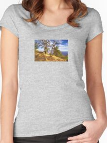 """Sunrise On The Rim"" Women's Fitted Scoop T-Shirt"