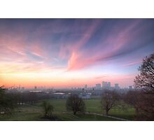 The Lavendar Skies of London Photographic Print