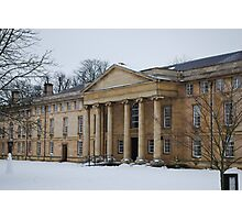Downing College in Snow Photographic Print