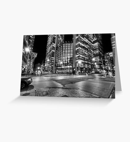 Night Dreams - Financial District Greeting Card