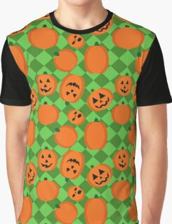 Halloween Pumpkin Pattern Graphic T-Shirt
