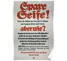 Spare Seife! aber wie 758 Poster