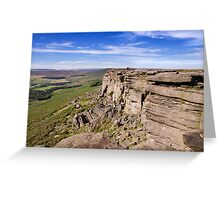 Stanage Edge, Peak District National Park, UK Greeting Card
