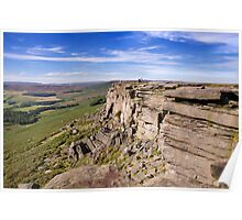 Stanage Edge, Peak District National Park, UK Poster