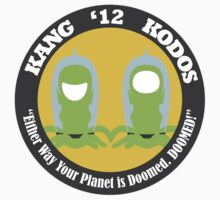 Vote Kang - Kodos '12 — Sticker by fohkat