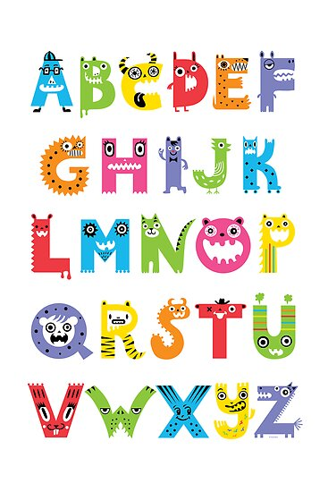 Alphabet Monsters poster by Andi Bird