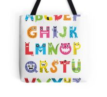 Alphabet Monsters poster Tote Bag
