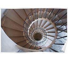 Villa d'Este Spiral Staircase Poster