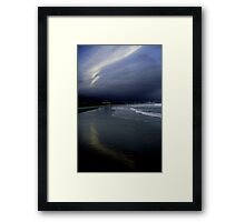 Summer lingers; tourists gone: Narragansett Framed Print