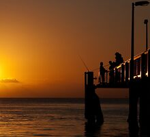 A Fisherman's Sunset by Kristin Repsher