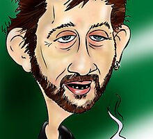 Shane MacGowan by Cartoonsbymark