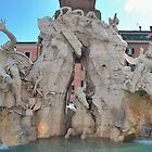 Piazza Navona Fountain by Claire Elford