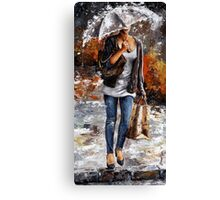 Rainy day - Woman of New York /06 Canvas Print