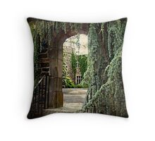 Archway To The Castle Throw Pillow
