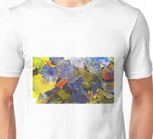 Blues & Yellows Glass by Chihuly Unisex T-Shirt