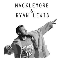 Macklemore and Ryan Lewis Inspired design UK Tour 2015 Photographic Print