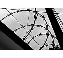 Barb Wire Photographic Print
