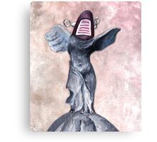 Winged Robot of Victory Canvas Print