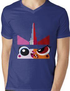 Dual Unikitty Mens V-Neck T-Shirt
