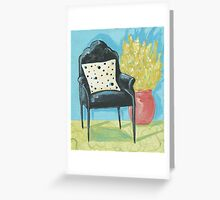 Retro Chair Greeting Card