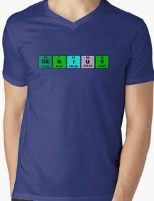 Periodic Table Genius Mens V-Neck T-Shirt