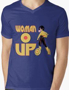 Woman Up!!!! Mens V-Neck T-Shirt