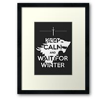 Keep Calm and Wait for Winter Framed Print