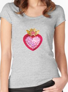 Super Sailor Chibi Moon Compact Women's Fitted Scoop T-Shirt