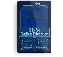C is for Cutting Education Metal Print