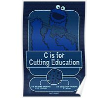 C is for Cutting Education Poster