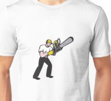 Lumberjack Tree Surgeon Arborist Chainsaw Unisex T-Shirt