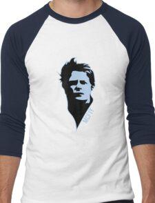 McF1y Blue Logo Men's Baseball ¾ T-Shirt
