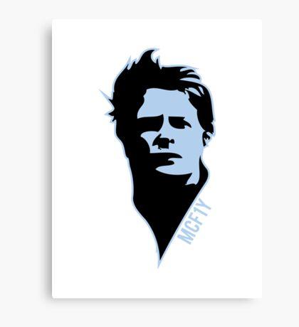 McF1y Blue Logo Canvas Print