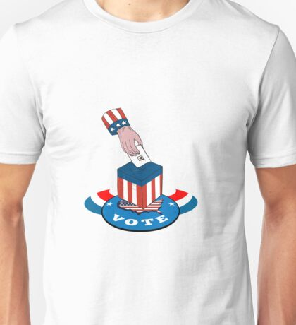 American Election Voting Ballot Box Retro Unisex T-Shirt