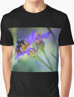 Bumblebee on Neon Flower Graphic T-Shirt