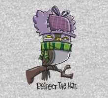 """respect the hat"" owl Kids Tee"