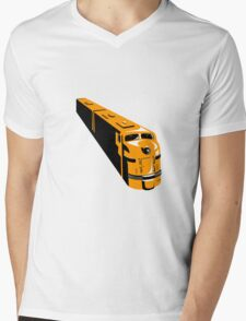 Diesel Train High Angle Retro Mens V-Neck T-Shirt