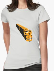 Diesel Train High Angle Retro Womens Fitted T-Shirt
