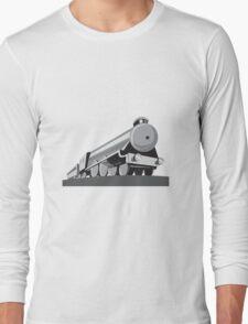 Steam Train Locomotive Retro Long Sleeve T-Shirt
