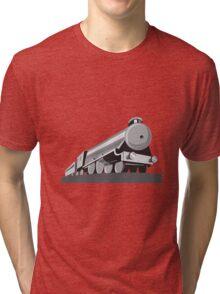 Steam Train Locomotive Retro Tri-blend T-Shirt