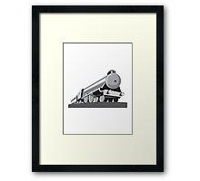 Steam Train Locomotive Retro Framed Print