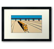 Diesel Train High Angle Retro Framed Print