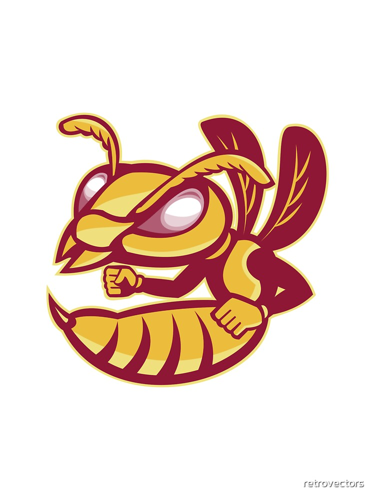 angry female hornet mascot by retrovectors
